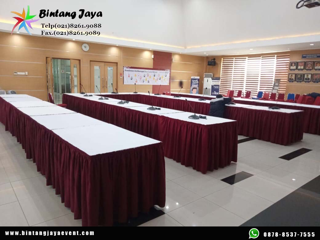 Sewa Meja Kotak Semarang Acara Vaksinasi Promo Tahun 2021