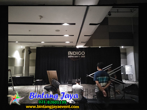 Sewa Tirai Bludru Hitam VIP Acara Indigo Jakarta