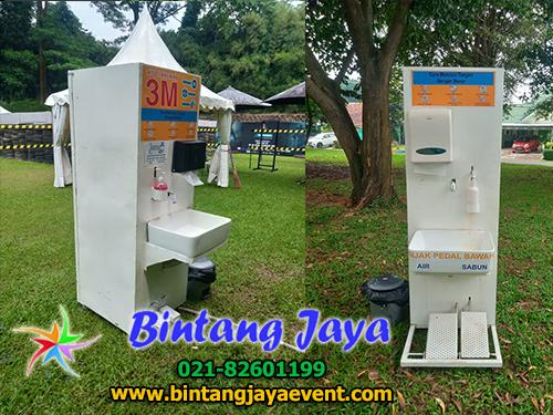 Rental Portable Hand Wash Station Acara di Markas Kopassus Cijantung Jakarta